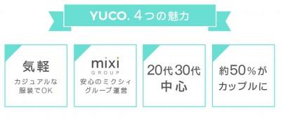 yuco(ユーコ)の評判と口コミとはミクシィの婚活パーティーは50%がカップルに